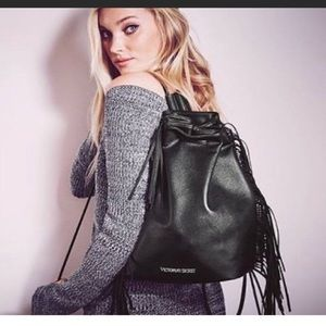 New Victoria Secret fringe backpack
